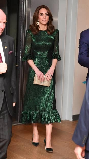 Gleiche Outfits der Royals: Herzogin Kate im grünen Kleid