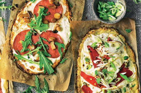 Low-Carb-Abendessen: Blumenkohl-Pizza