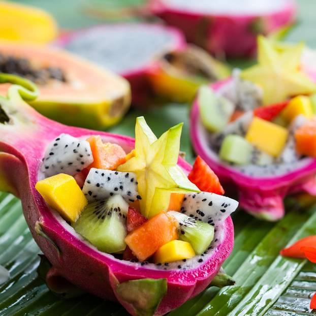 Exotische Früchte: Obstsalat