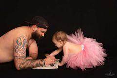 Papa-Tochter Bilder: malen aus