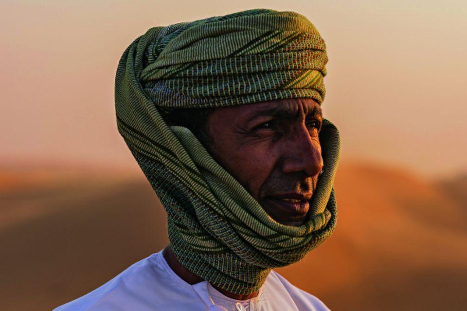 Reisetipps Oman: Guide Khlaid Al-Rawahi mit Turban