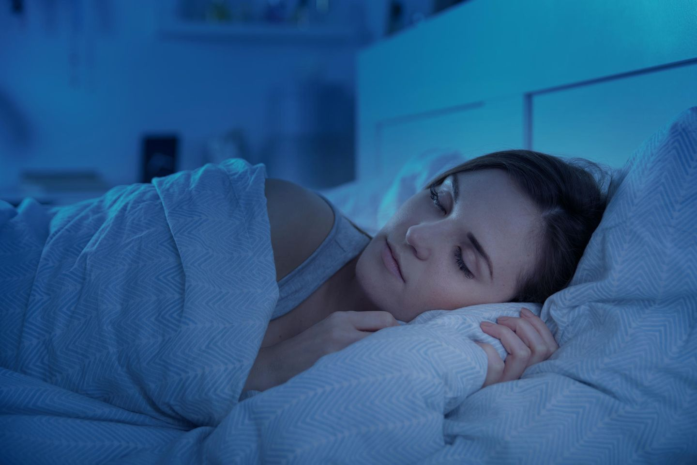 Gesunder Schlaf: Schlafende Frau