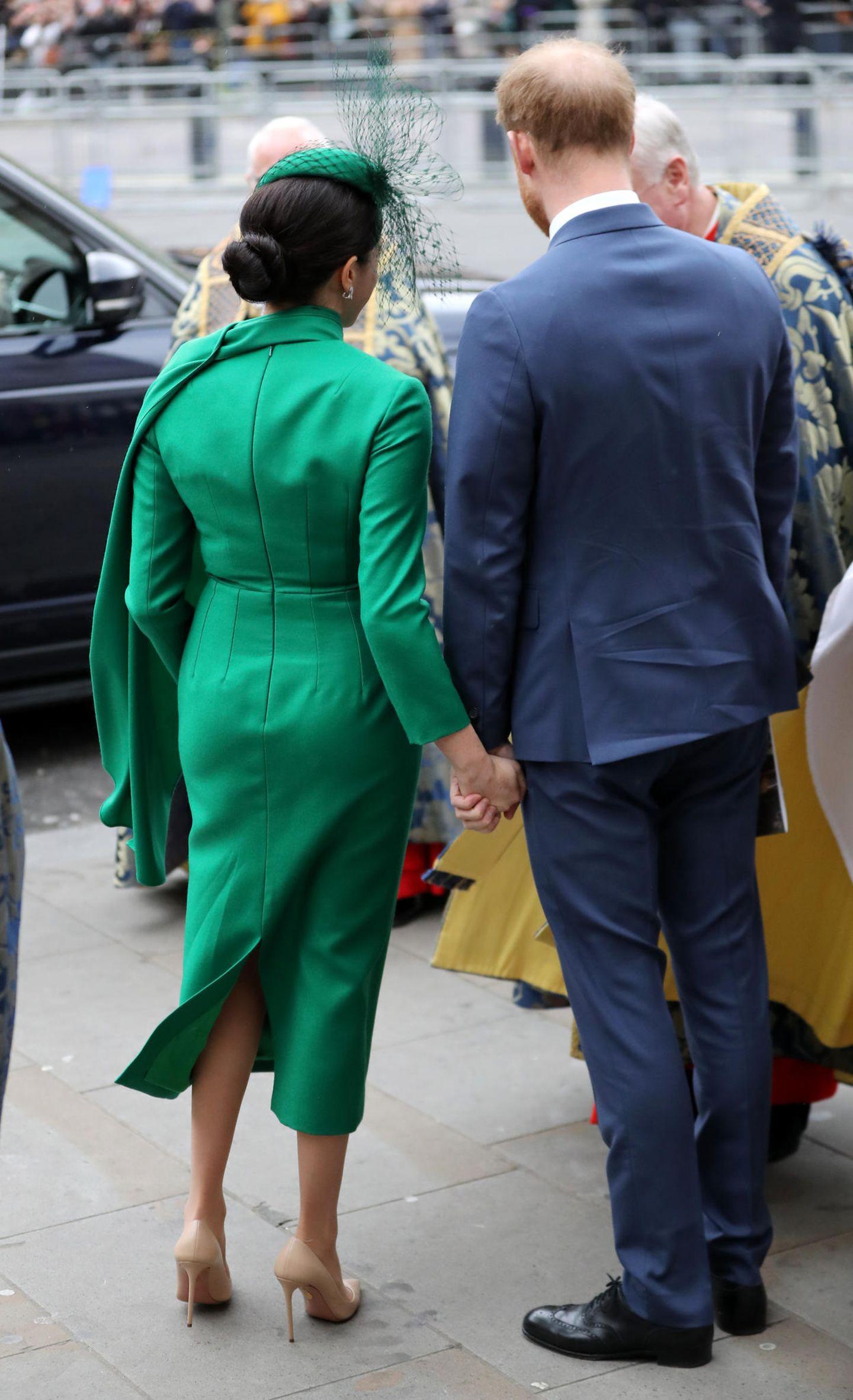 Meghan Markle: von hinten mit Prinz Harry