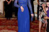 Herzogin Kate: im blauen Kleid