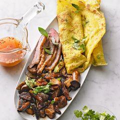 Asia-Pfannkuchen mit Entenbrust