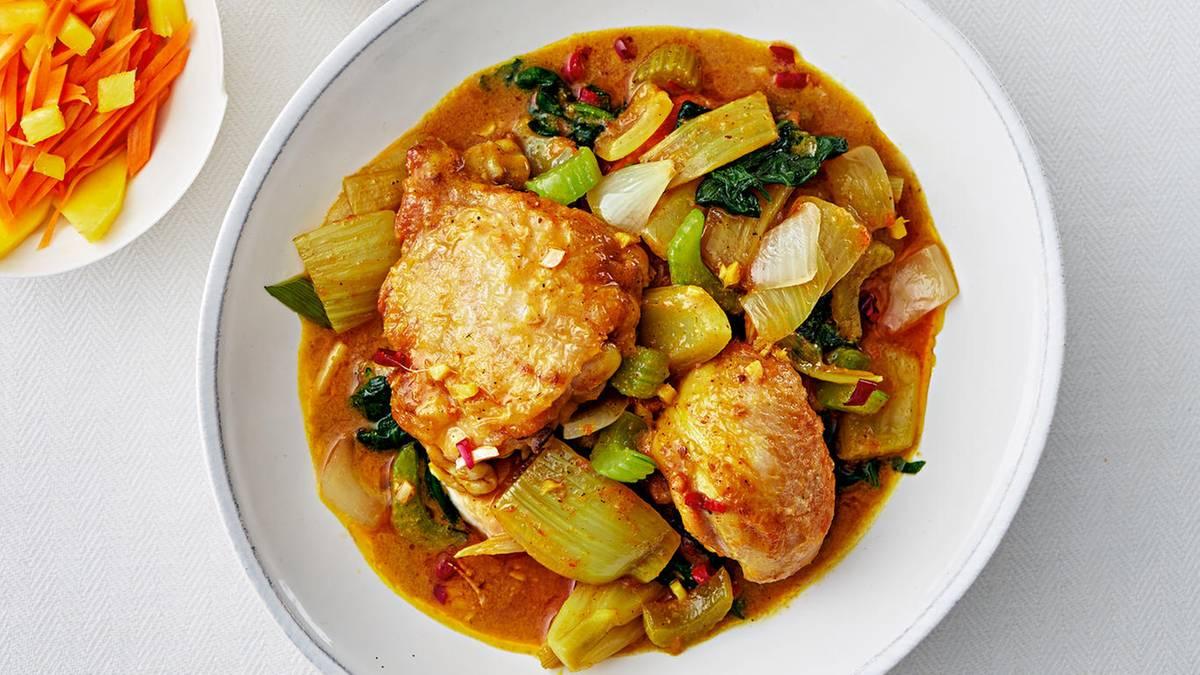 thai curry mit huhn