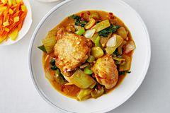 Limetten-Curry mit Huhn