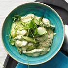 Gnocchi mit grünem Spargel und Zitronenrahm