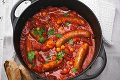 Kichererbsen-Ragout mit Salsiccia