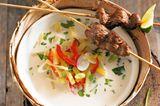 Steckrüben-Ingwer-Suppe mit Lammfilet