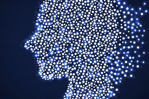 Silhouette künstliche Intelligenz