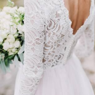 Hochzeitskleid mit Spitze