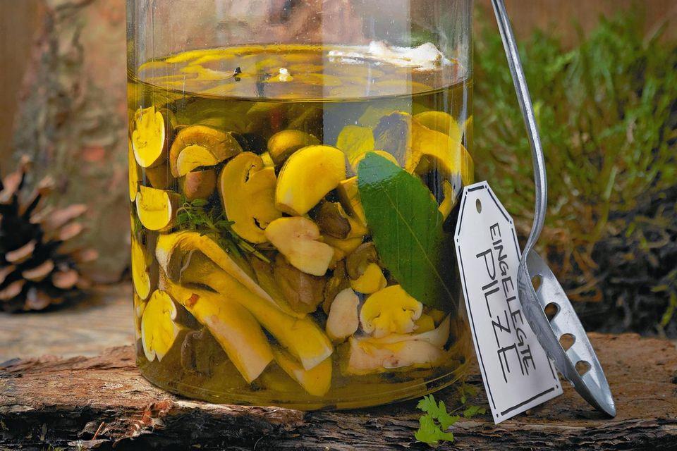 Eingelegte Pilze