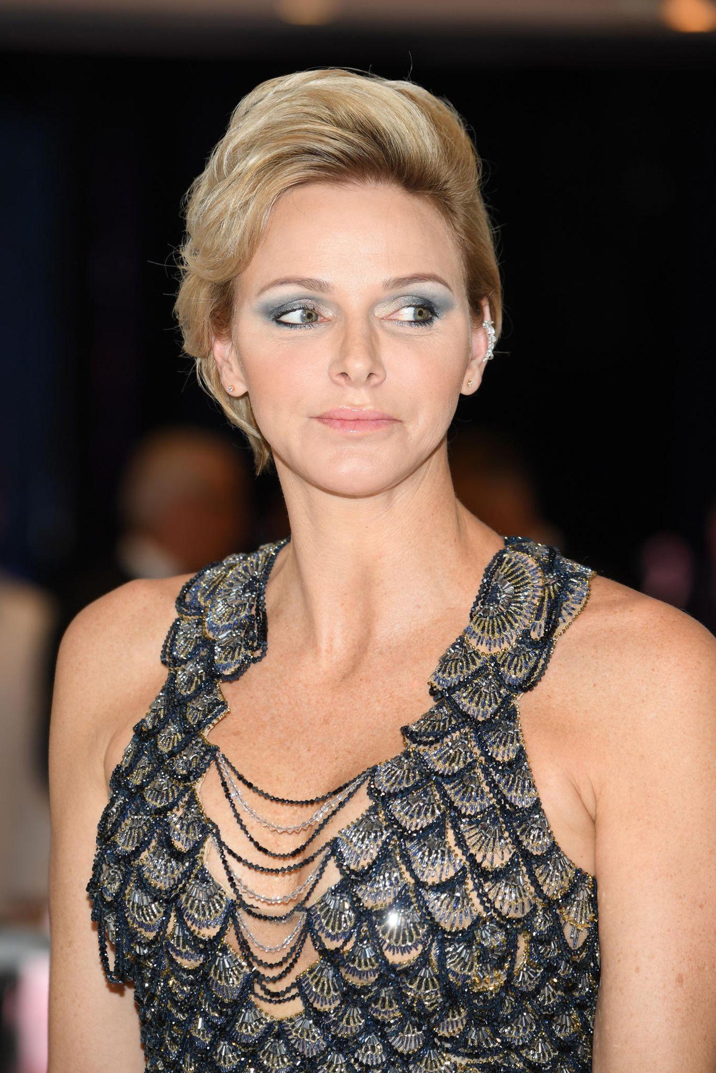 Makeup-Looks der Royals: Charlene von Monaco mit blauem Lidschatten