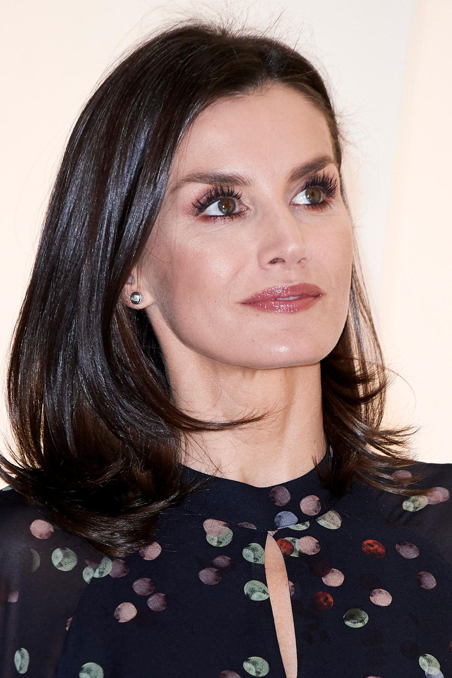 Makeup-Looks der Royals: Königin Letizia mit langen Wimpern