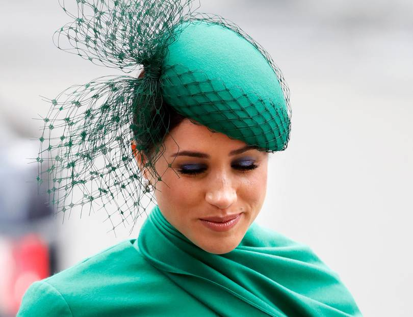 Makeup-Looks der Royals: Meghan Markle mit blauem Lidschatten