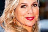 Makeup-Looks der Royals: Königin Maxima mit roten Lippen