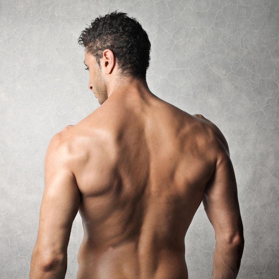 Testosteronmangel: Rückenansicht eines Mannes