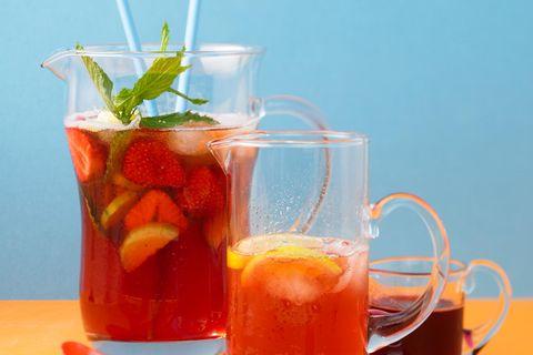 Erdbeer-Pimm's-Bowle
