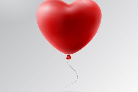 Herzförmiger Ballon