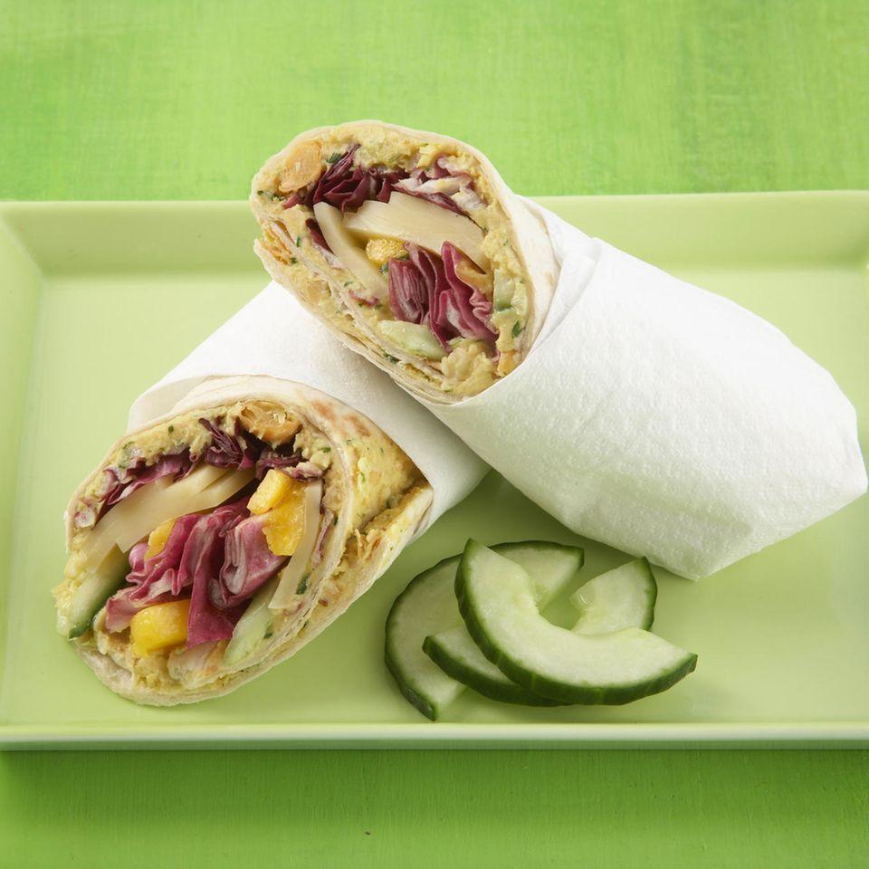 Käse-Mango-Wrap
