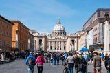 Sehenswürdigkeiten unter Coronakrise: Petersdom