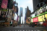 Sehenswürdigkeiten unter Coronakrise: Times Square