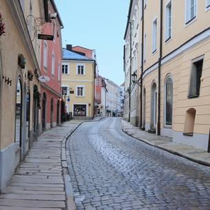 Corona aktuell: Leere Straße in Bayern
