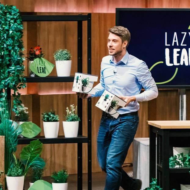 Lazy Leaf Blumentopf: Gründer beim PItch in der Show