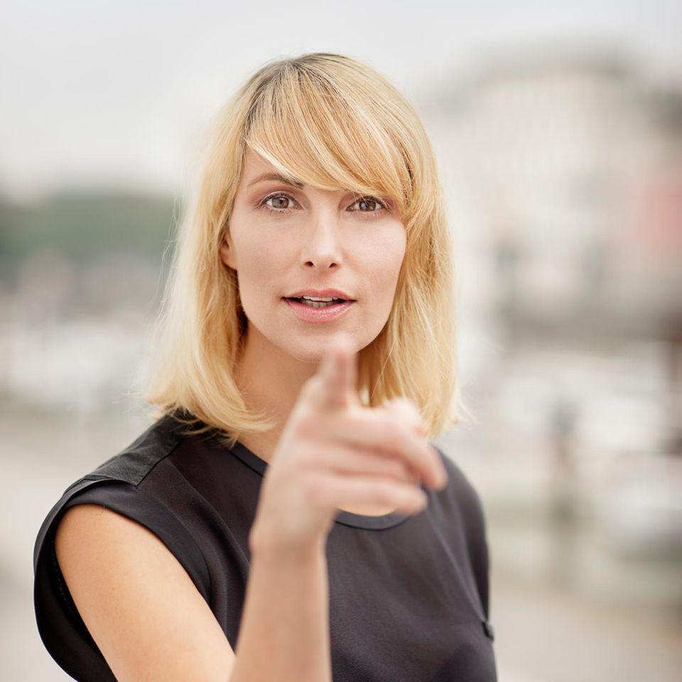 Tacheles reden: Frau mit klarer Ansage
