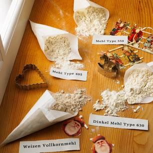 Mehlsorten: Verschiedene Mehle