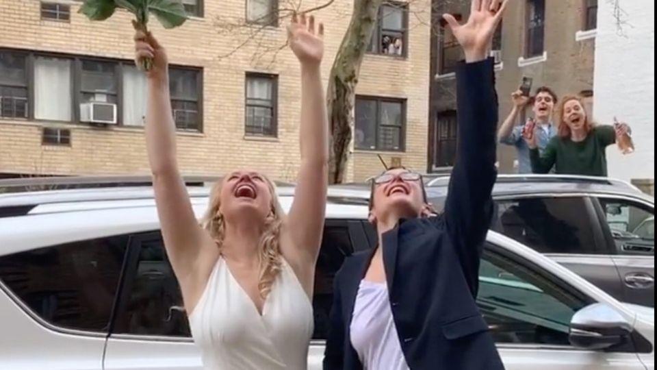 Hochzeit aus dem 4. Stock