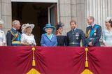 Herzogin Meghan + Prinz Harry: mit der königlichen Familie