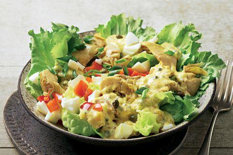 Schnelle Salate: Artischockensalat mit Kapern-Ei-Soße