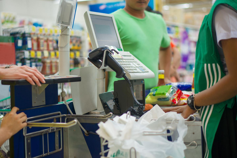 Corona aktuell: Supermarkt-Kasse