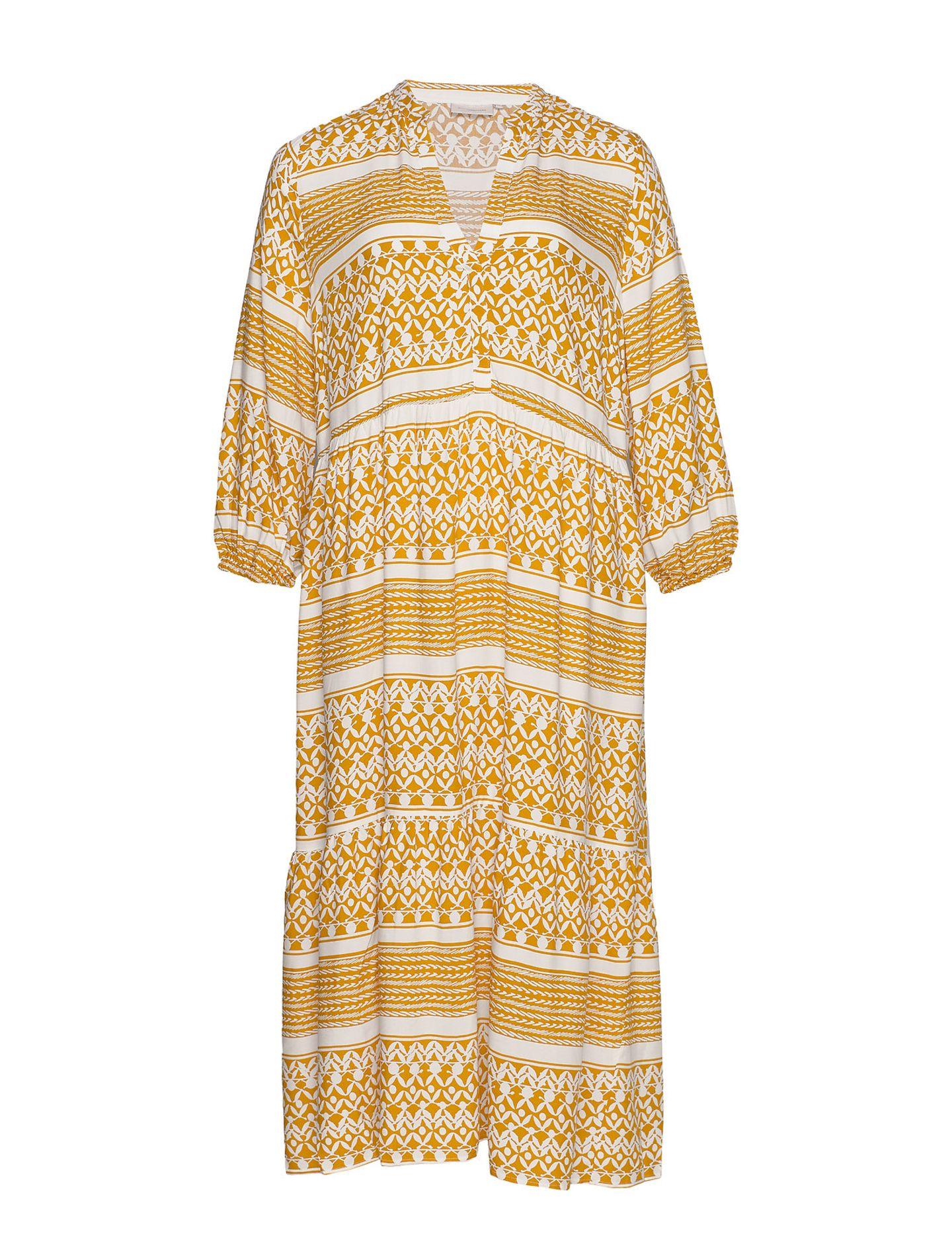 Curvy Mode: Gelbes Maxi-Kleid