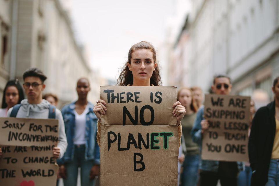 Umwelt schützen: Klimademonstration