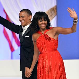 Oberarme Michelle Obama: MIchelle und Barrack Obama