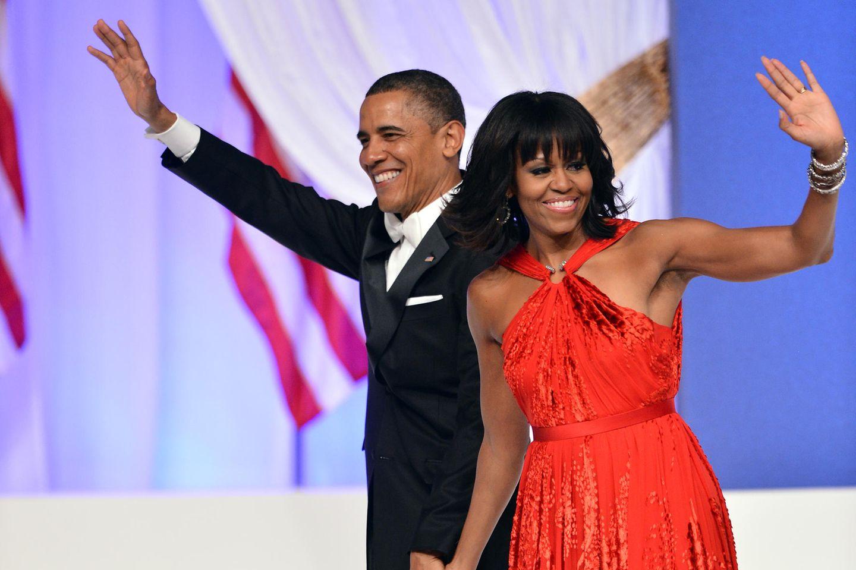 Oberarme Michelle Obama: MIchelle und Barrack Obama