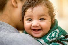 Indische Vornamen: lachendes Baby
