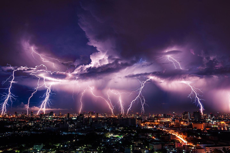 Wer Wind sät, wird Sturm ernten: Schlimmes Unwetter mit Blitzen