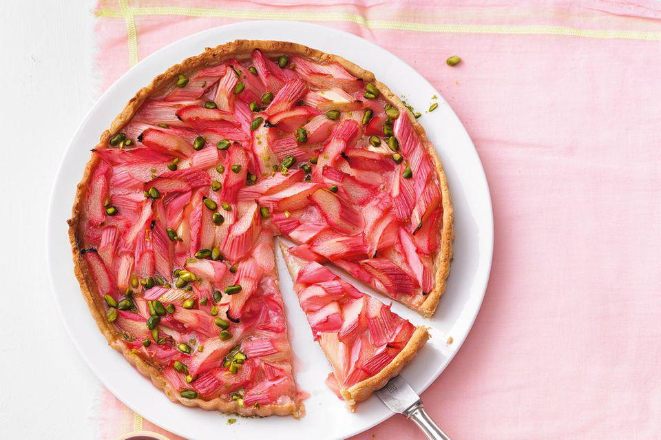 Rhabarberkuchen: Rhabarber-Marzipan-Tarte