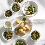 Petersiliensalat mit Falafeln