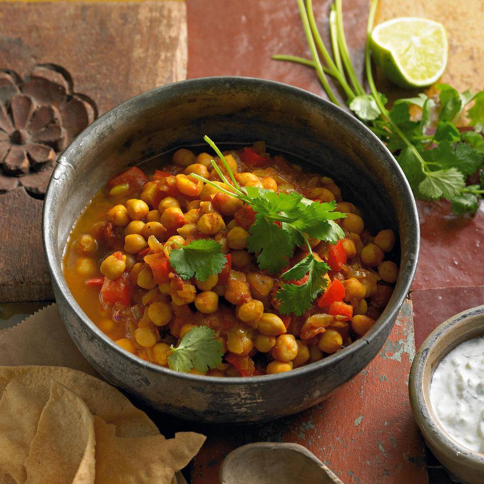 Kichererbsen-Curry mit Raita