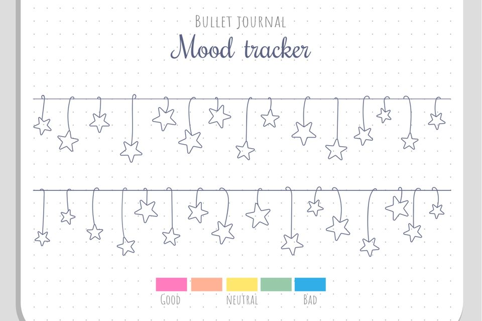 bullet journal ideen: mood tracker