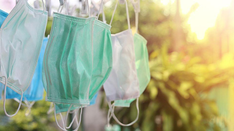 Mundschutz richtig auswaschen
