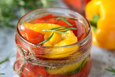 Paprika einlegen: Eingelegte Paprika