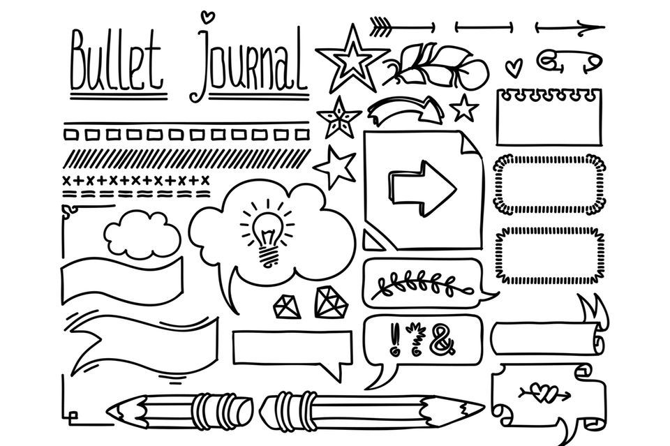 Bullet Journal Ideen: Kleine Zeichnungen