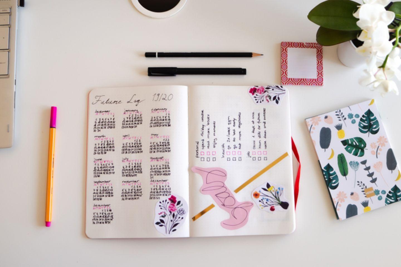 Bullet Journal Ideen: Bullet Journal aufgeschlagen