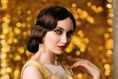 20er Jahre Frisuren: Frau mit Wasserwelle-Frisur